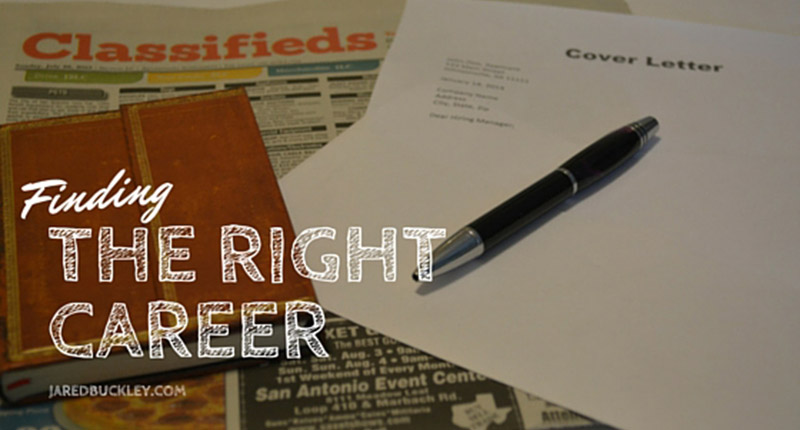 how to choose the right career for me